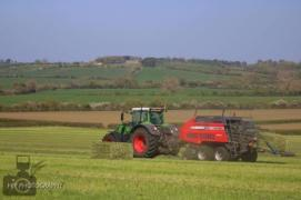Tractor and baler 1