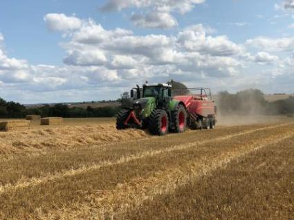 Tractor and baler 2